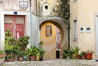 Picturesque corner in Sintra. Portugal