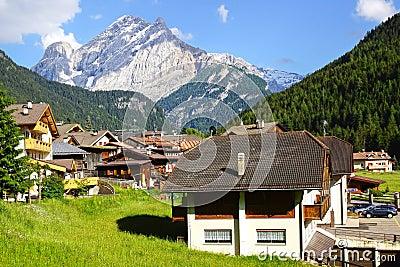 Picturesque Dolomites  landscape. Canazei
