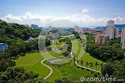 Picturesque golf course
