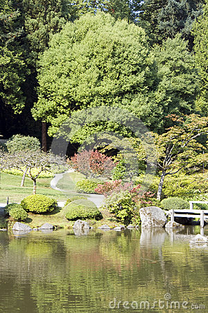 Picturesque Japanese garden