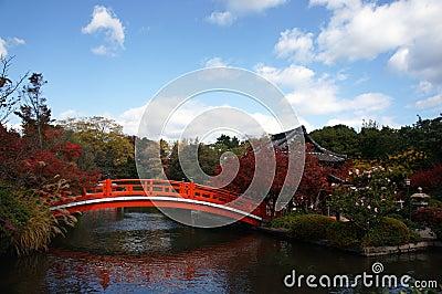 Picturesque Japanese Garden in autumn