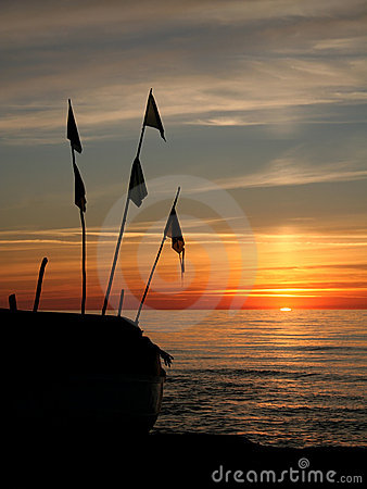 Picturesque ocean sunset
