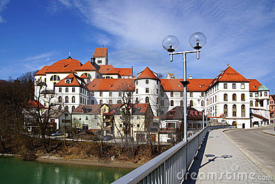 Picturesque panorama of Fussen. Germany