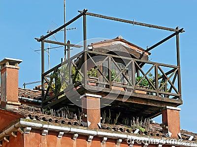 Roof-garden in Venice