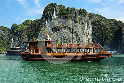 Picturesque sea landscape. HaLong Bay, Vietnam