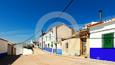 Picturesque street of Campo de Criptana