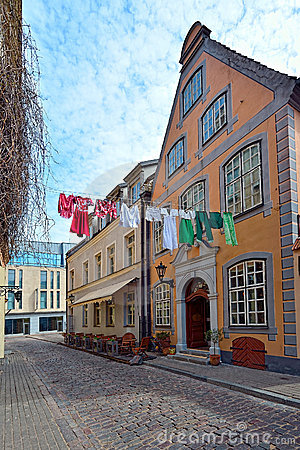 Picturesque street of old Riga