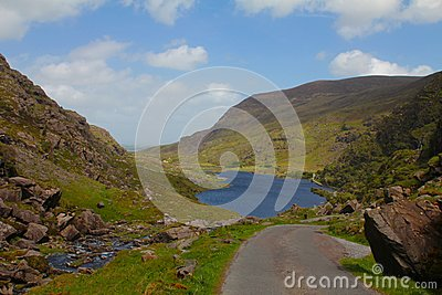 Picturesque valley and lake, Gap of Dunloe, Ireland