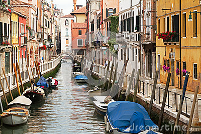 Picturesque Venice Neighbourhood. Royalty Free Stock Image - Image: 25655496