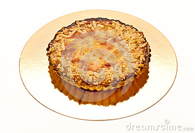 Pie with almonds and pear