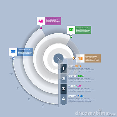 Free Pie Chart, Circle Graph Infographics Element Royalty Free Stock Photography - 37851297