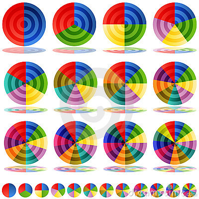 Pie Chart Target Icon Set