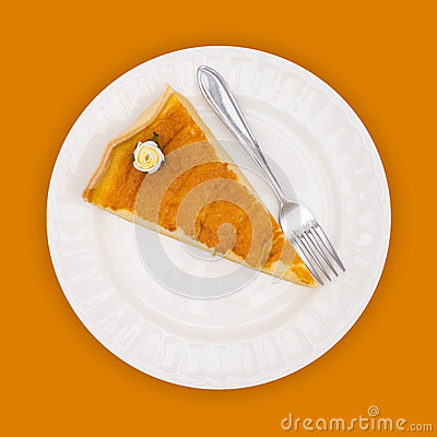 Pie on orange