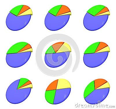Pie diagrams collection