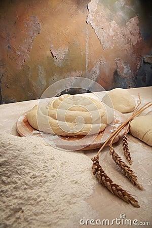 Pie and flour