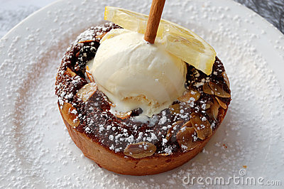 Pie with ice cream