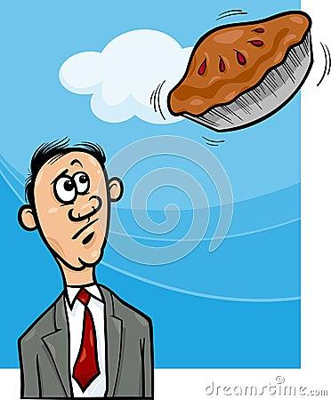 Pie in the sky saying cartoon