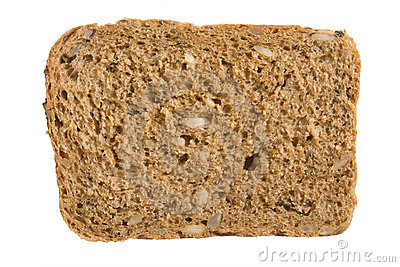 A piece of 7-grain bread