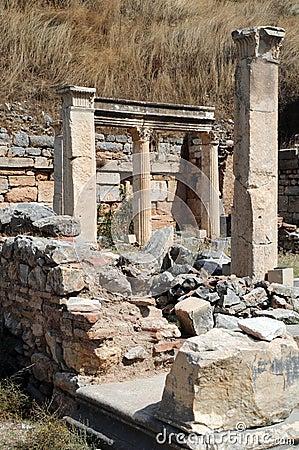 Piece of Ancient Ruins in Ephesus