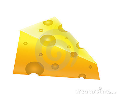 The Piece of the appetizing cheese