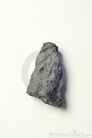 Piece of black coal