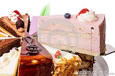 Piece of cake fruit soufflé