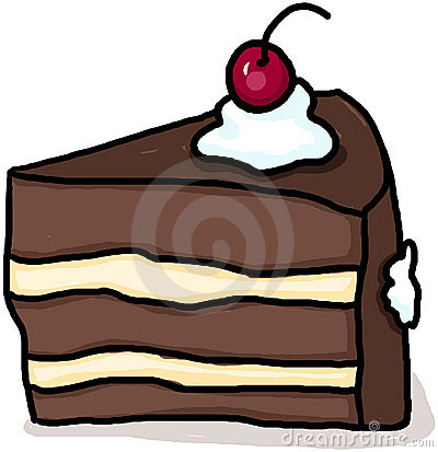 Cake illustration; Piece of cake drawing