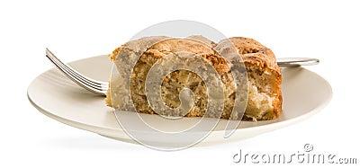 Piece of cinnamon apple pie