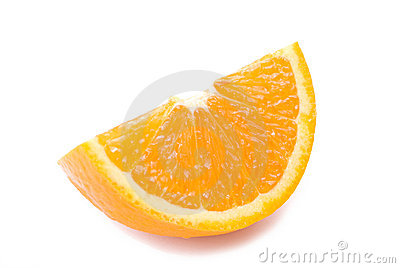 Piece of fresh orange fruit
