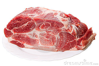 Piece of frozen meat
