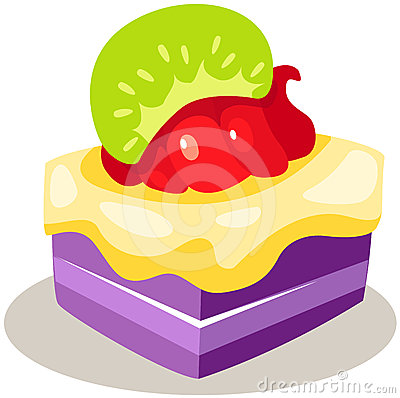 Piece of fruit cake