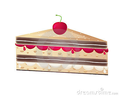 Piece of fruit cake,vector