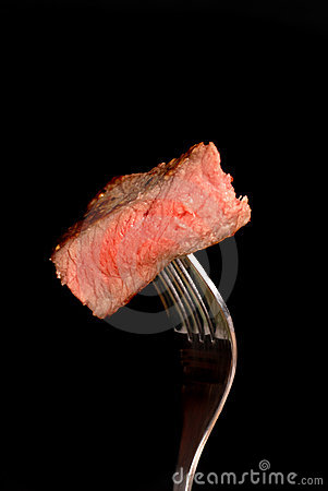 A piece of grilled ribeye steak