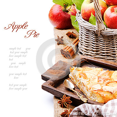 Piece of homemade apple pie