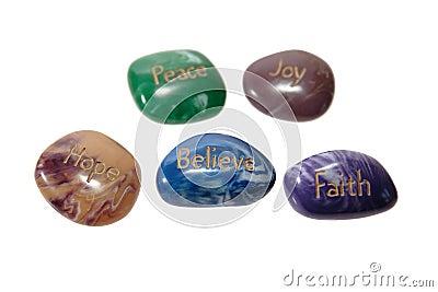 Piece joy hope stones