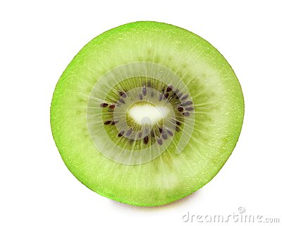 Piece of  kiwi fruit