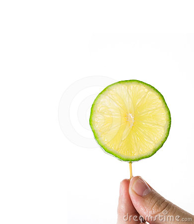 A piece of lime