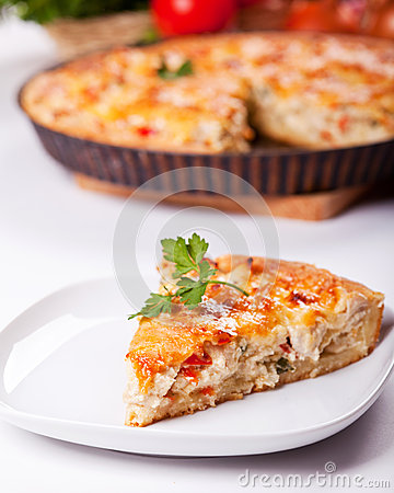 Free Piece Of A Chicken Meat Pie Royalty Free Stock Photos - 32912648