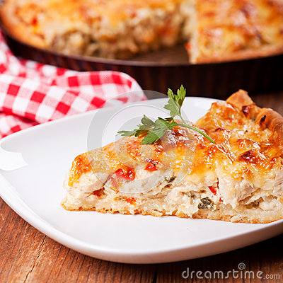 Free Piece Of A Chicken Meat Pie Royalty Free Stock Photos - 32920108