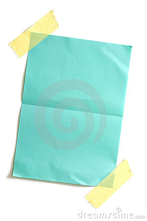 Free Piece Of Blank Colored Paper Stock Photo - 2786130
