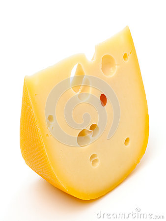 Free Piece Of Cheese Isolated On White Stock Photo - 32794520