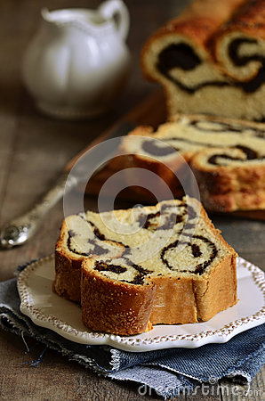 Free Piece Of Poppy Seed Roll. Royalty Free Stock Image - 50815586