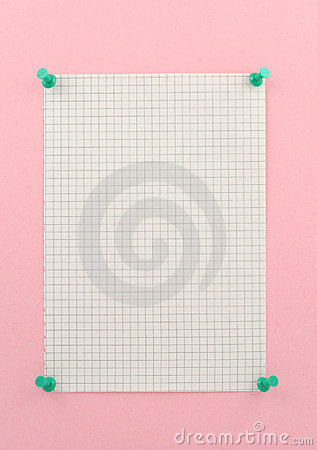 Free Piece Of Squared Paper Stock Photography - 699612