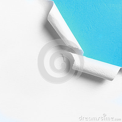 Free Piece Of White Paper With Torn Hole Edge Stock Photography - 31479712