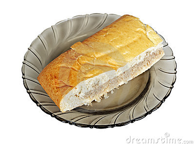 Piece of pasty with meat on plate
