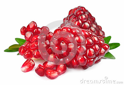 Piece of pomegranate fruit