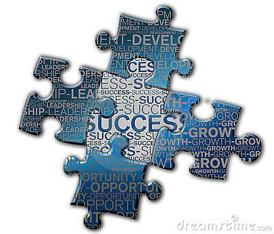 Piece of puzzle of the success