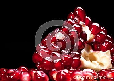 Piece of red garnet