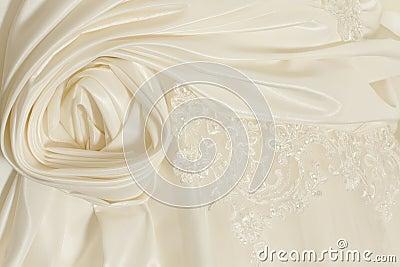 Piece wedding dress