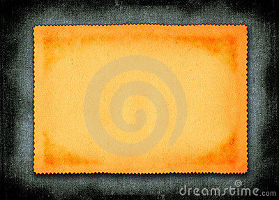 Piece of yellowed paper